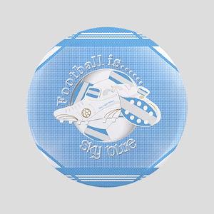 Sky Blue Football Soccer Button