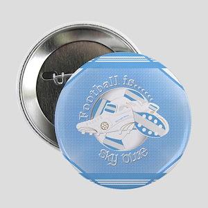 "Sky Blue Football Soccer 2.25"" Button (10 pack)"