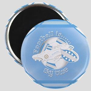 Sky Blue Football Soccer Magnets