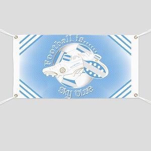 Sky Blue Football Soccer Banner