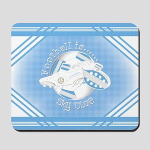 Sky Blue Football Soccer Mousepad