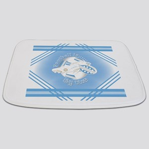 Sky Blue Football Soccer Bathmat