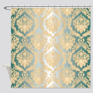 Elegant Damask Design Shower Curtain
