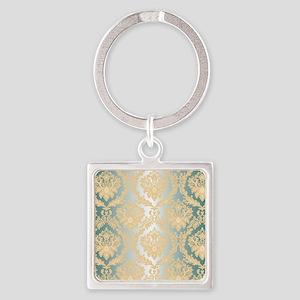 Elegant Damask Design Keychains