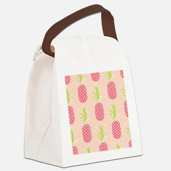 Pineapple Pattern Canvas Lunch Bag