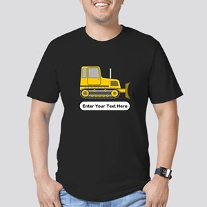 Personalized Bulldozer Men's Fitted T-Shirt (dark)