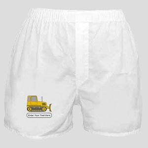 Personalized Bulldozer Boxer Shorts