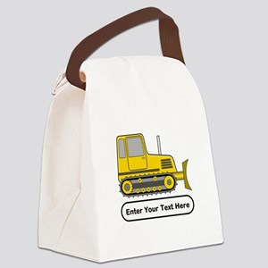 Personalized Bulldozer Canvas Lunch Bag