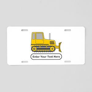 Personalized Bulldozer Aluminum License Plate