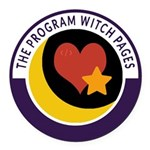 Program Witch Pages Round Car Magnet