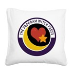 Program Witch Pages Square Canvas Pillow