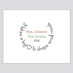 Personalized Big Hearted Teacher Posters
