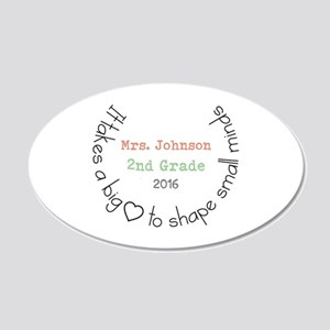 Personalized Big Hearted Teacher Wall Decal