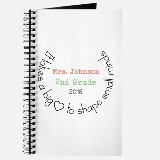 Personalized Big Hearted Teacher Journal