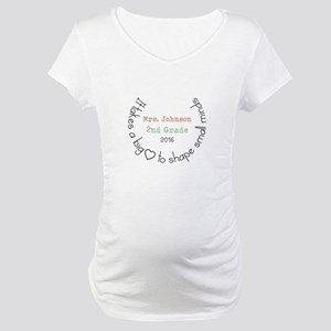Personalized Big Hearted Teacher Maternity T-Shirt