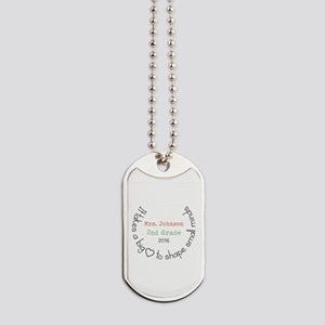 Personalized Big Hearted Teacher Dog Tags