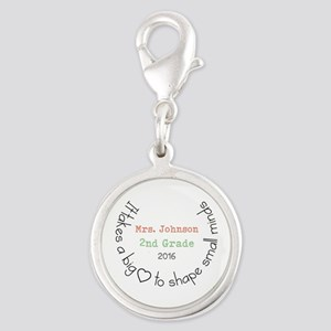 Personalized Big Hearted Teacher Charms