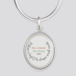 Personalized Big Hearted Teacher Necklaces
