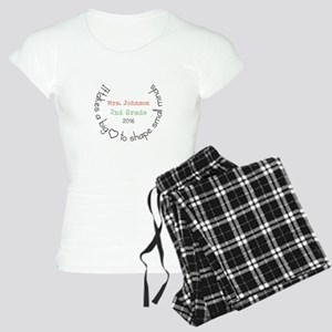 Personalized Big Hearted Teacher Pajamas