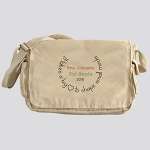 Personalized Big Hearted Teacher Messenger Bag