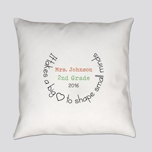 Personalized Big Hearted Teacher Everyday Pillow