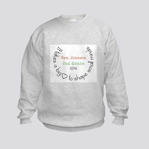 Personalized Big Hearted Teacher Sweatshirt