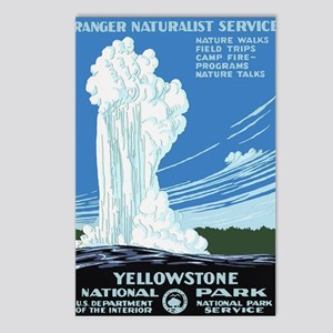 Yellowstone Old Faithful Postcards (Package of 8)