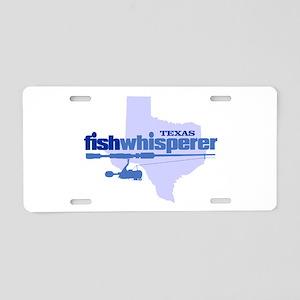 Texas fishwhisperer Aluminum License Plate