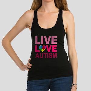LIVE LOVE autism Racerback Tank Top