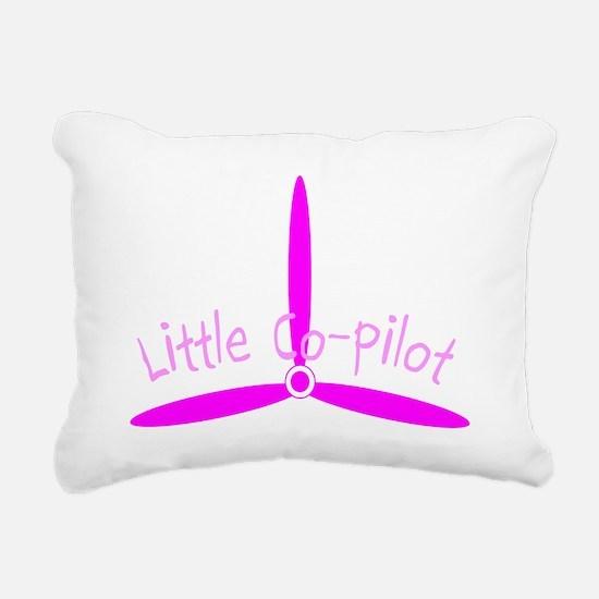 Little Co-Pilot Pink Rectangular Canvas Pillow
