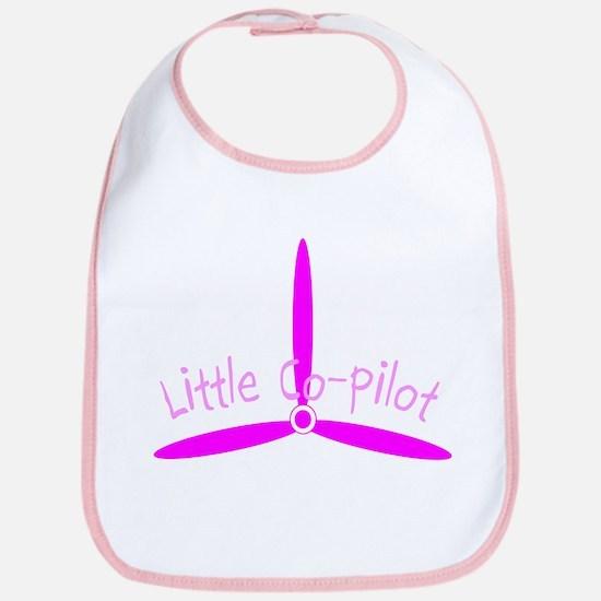 Little Co-Pilot Pink Bib