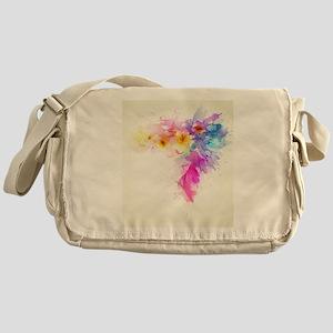 Colorful Tropical Plumeria Messenger Bag