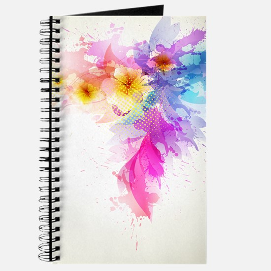 Colorful Tropical Plumeria Journal