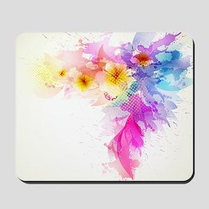 Colorful Tropical Plumeria Mousepad
