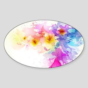 Colorful Tropical Plumeria Sticker