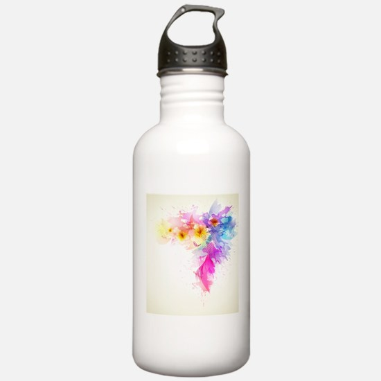Colorful Tropical Plum Water Bottle