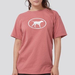 pointer dog oval wh T-Shirt