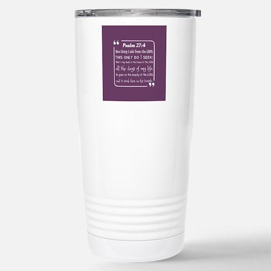 inspirational bible ver Stainless Steel Travel Mug