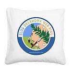 Blog Oklahoma Square Canvas Pillow