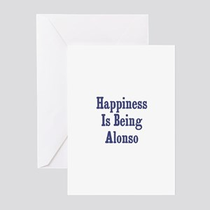 Happiness is being Alonso Greeting Cards (Pk of 10