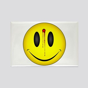 Bloody Happy Face Rectangle Magnet