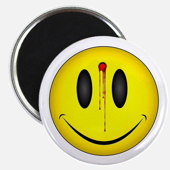 """Bloody Happy Face 2.25"""" Magnet (100 pack)"""