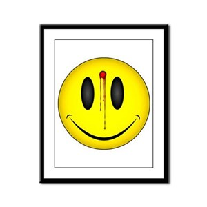 Bloody Happy Face Framed Panel Print