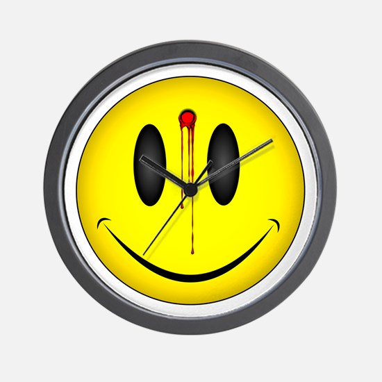 Bloody Happy Face Wall Clock