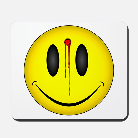 Bloody Happy Face Mousepad