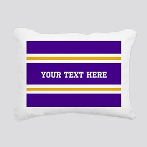 Purple and Gold Sports S Rectangular Canvas Pillow