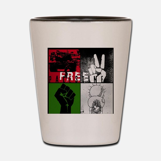 Cool Free palestine Shot Glass