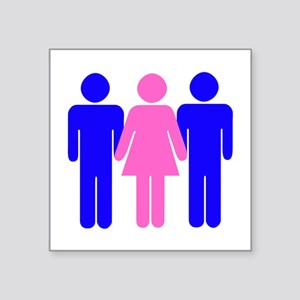 3some female Sticker