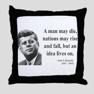 John F. Kennedy 3 Throw Pillow