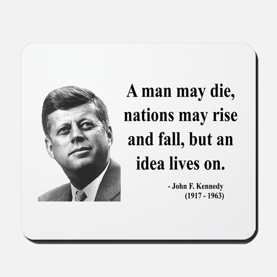 John F. Kennedy 3 Mousepad